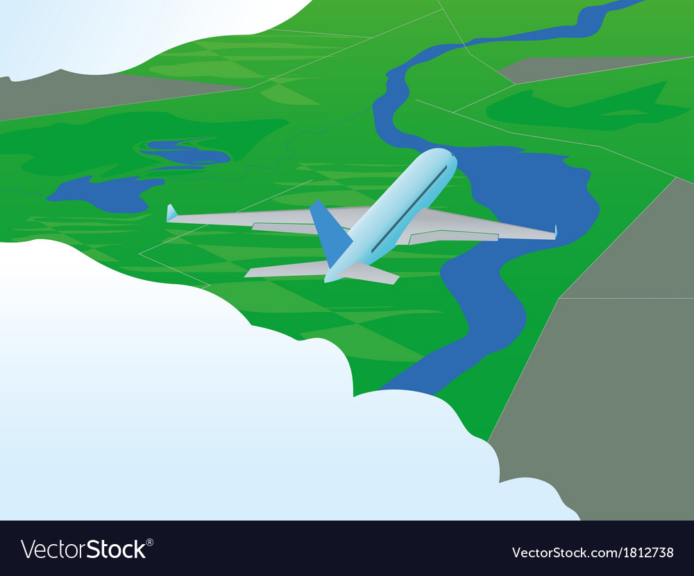 Plane in flight vector | Price: 1 Credit (USD $1)