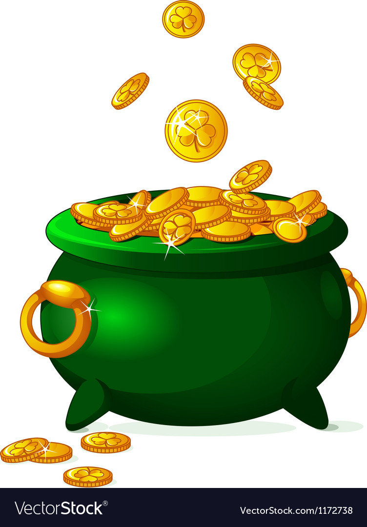 Pot of gold vector | Price: 1 Credit (USD $1)