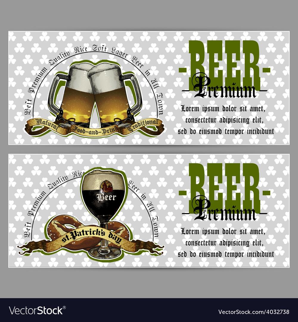 Set of beer labels vector | Price: 3 Credit (USD $3)