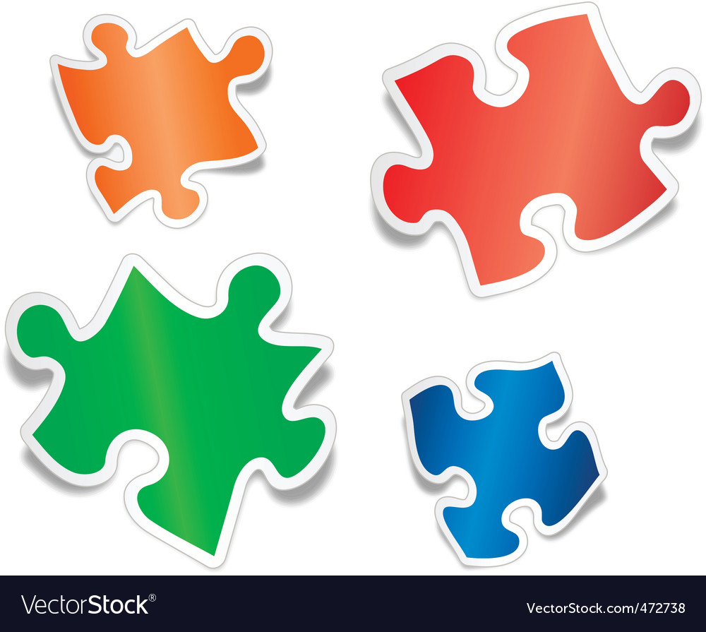 Shiny jig saw puzzle pieces vector | Price: 1 Credit (USD $1)