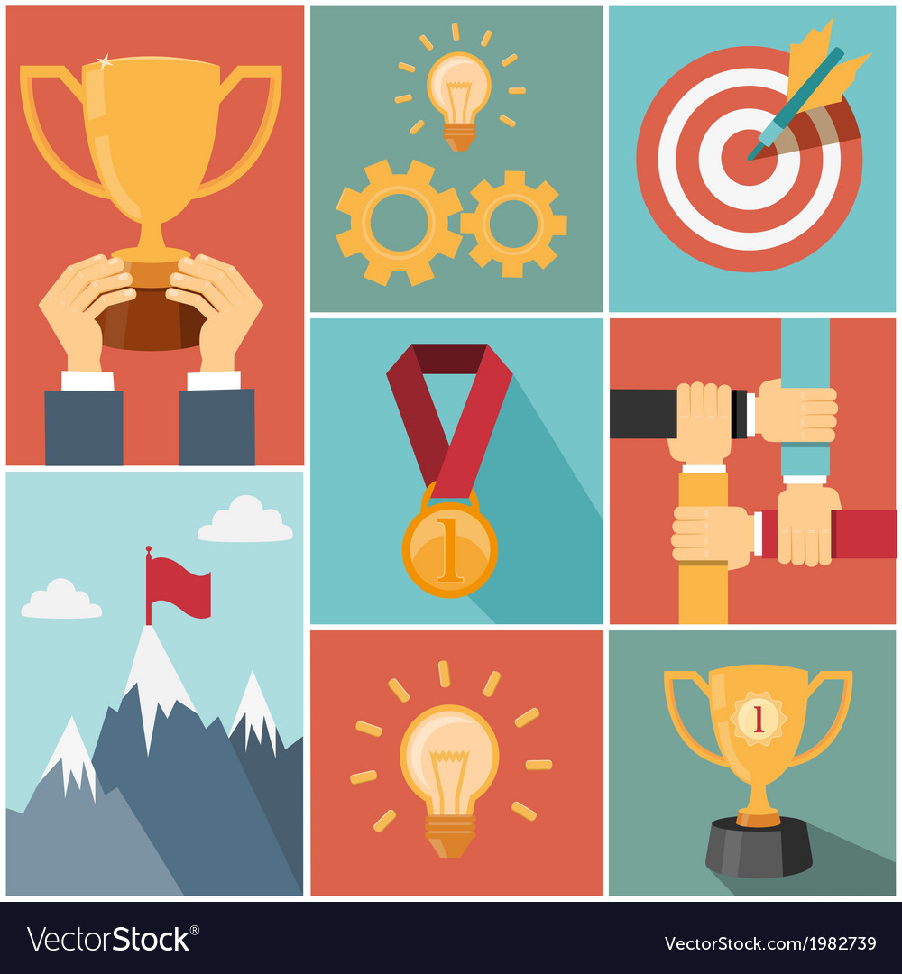 Achieving goal success concept vector | Price: 1 Credit (USD $1)