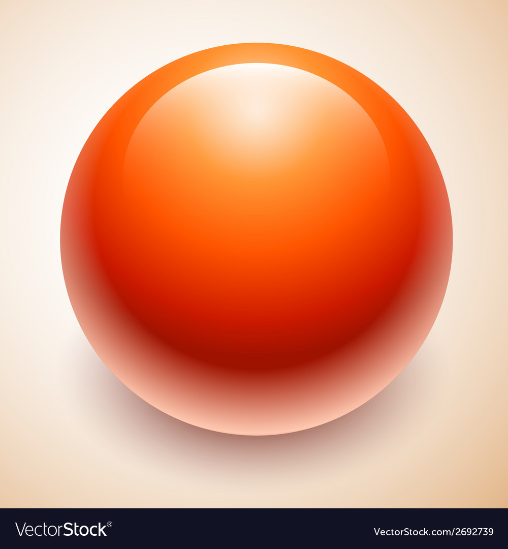 Big red ball abstract vector | Price: 1 Credit (USD $1)