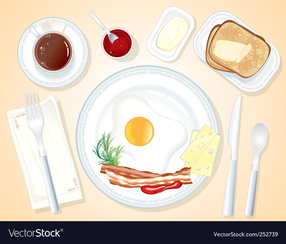 Breakfast vector | Price: 3 Credit (USD $3)
