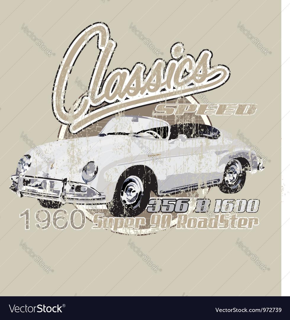 Classic porche vector | Price: 1 Credit (USD $1)