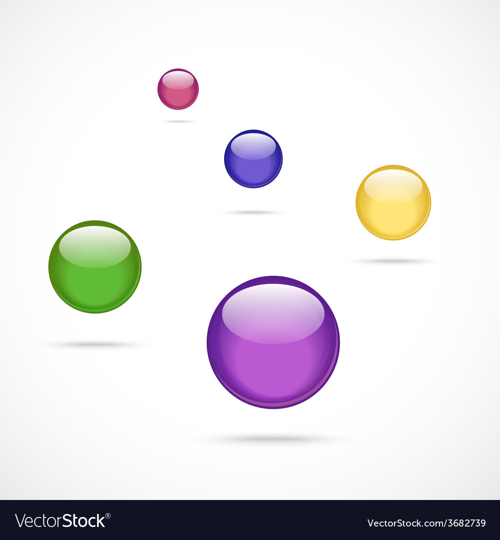 Collection of colorful glossy spheres vector   Price: 1 Credit (USD $1)