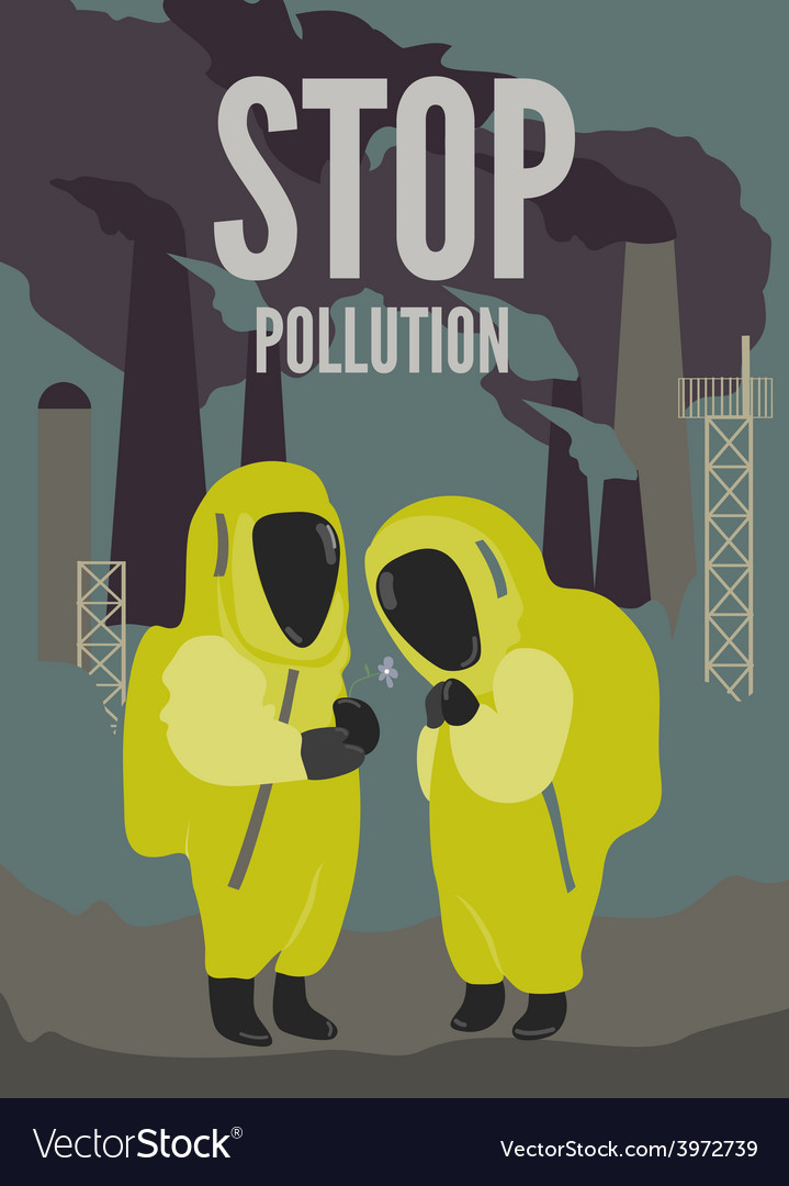 Couple in dirty environment vector | Price: 1 Credit (USD $1)