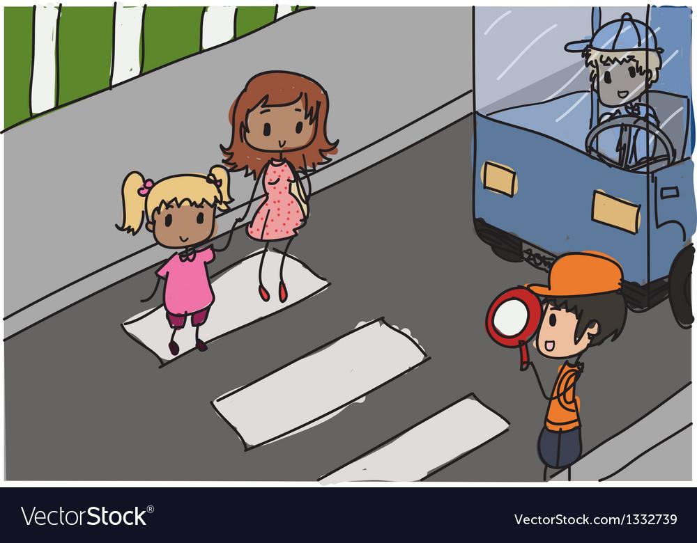 Crosswalk vector   Price: 3 Credit (USD $3)