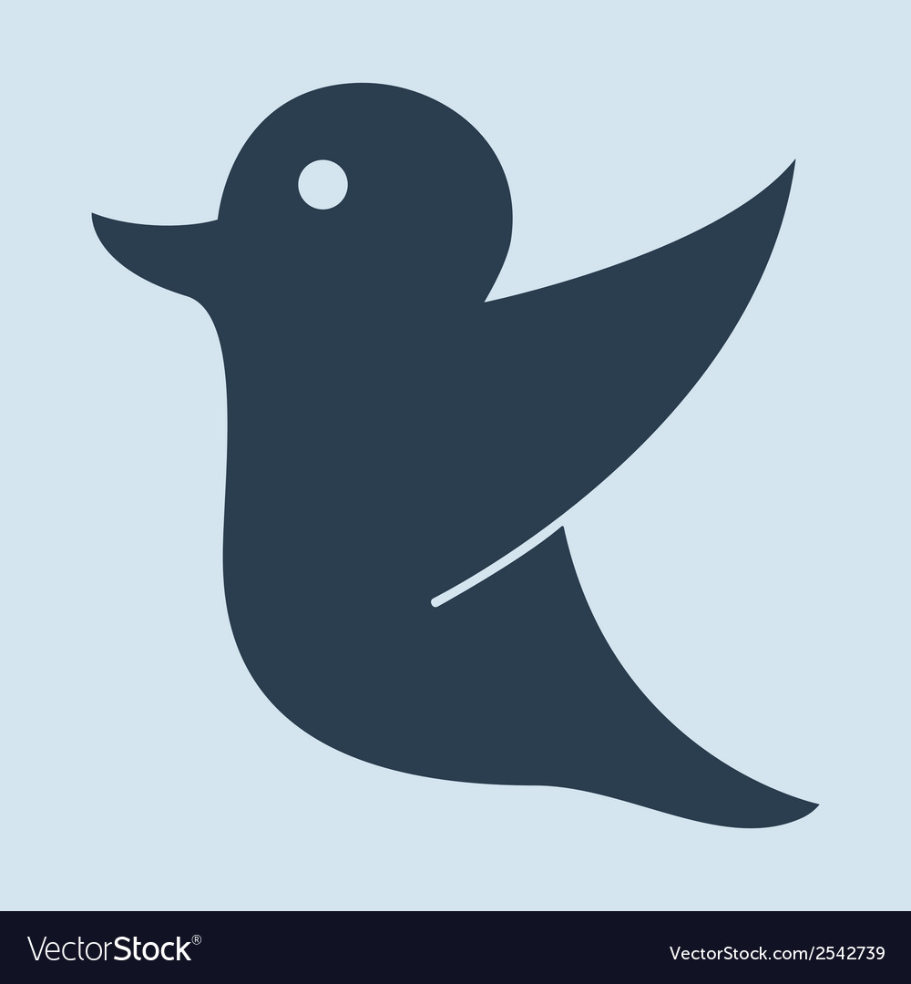 Drawing of a twitter holding for social media tag vector | Price: 1 Credit (USD $1)