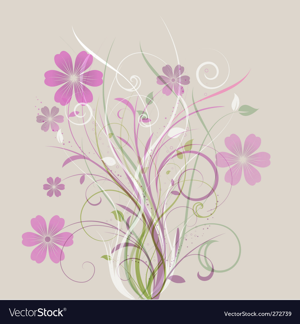Floral abstract vector | Price: 1 Credit (USD $1)