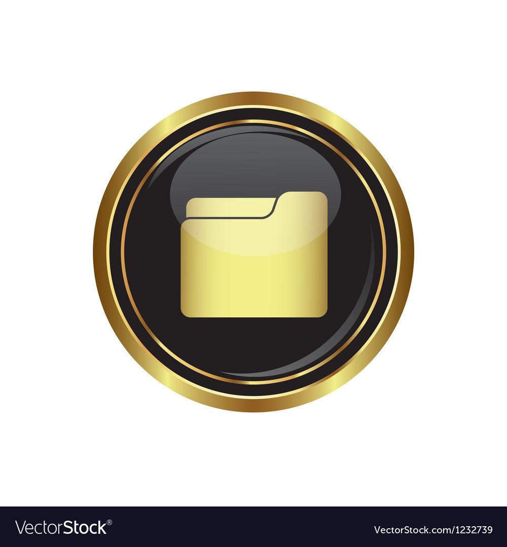 Folder icon vector   Price: 1 Credit (USD $1)