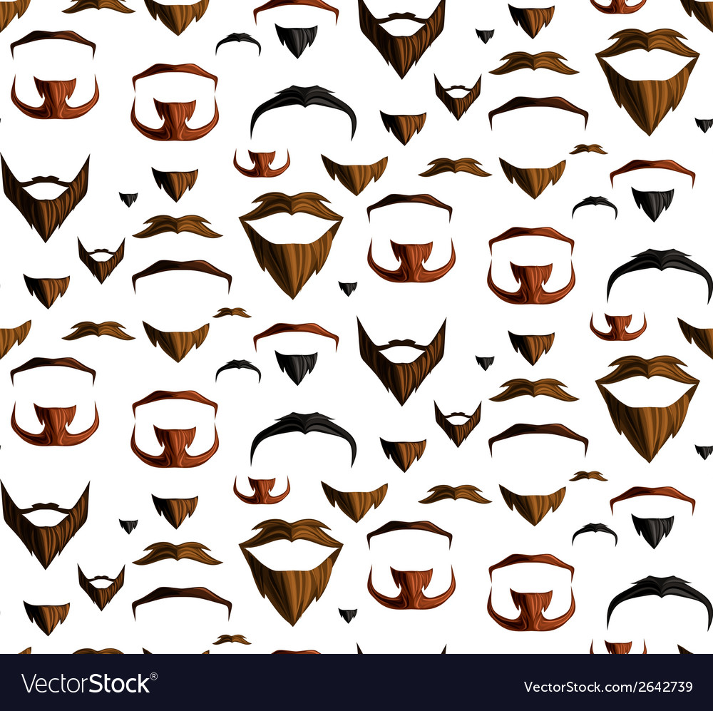 Mustache seamless vector | Price: 1 Credit (USD $1)