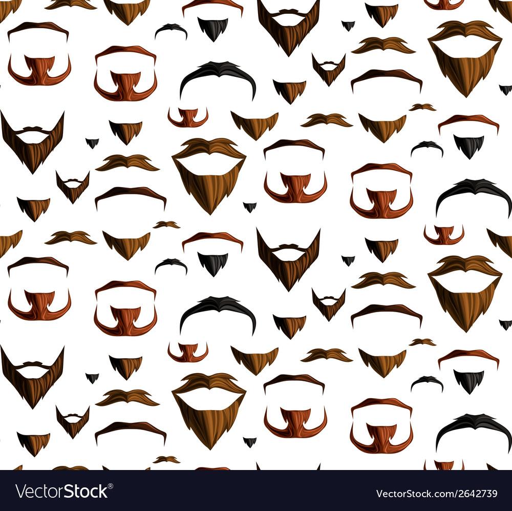 Mustache seamless vector | Price: 1 Credit (USD $1)