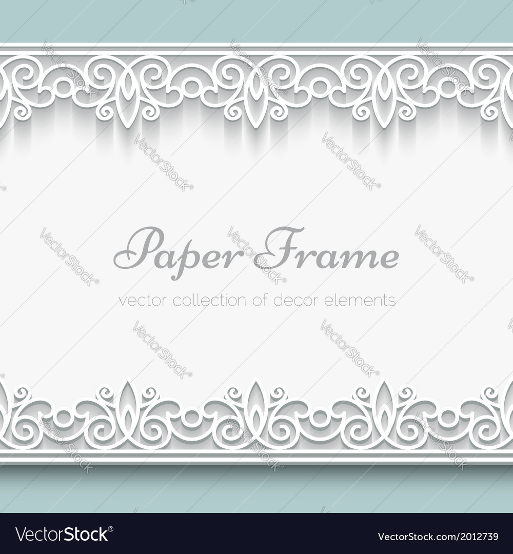 Paper lace frame vector | Price: 1 Credit (USD $1)