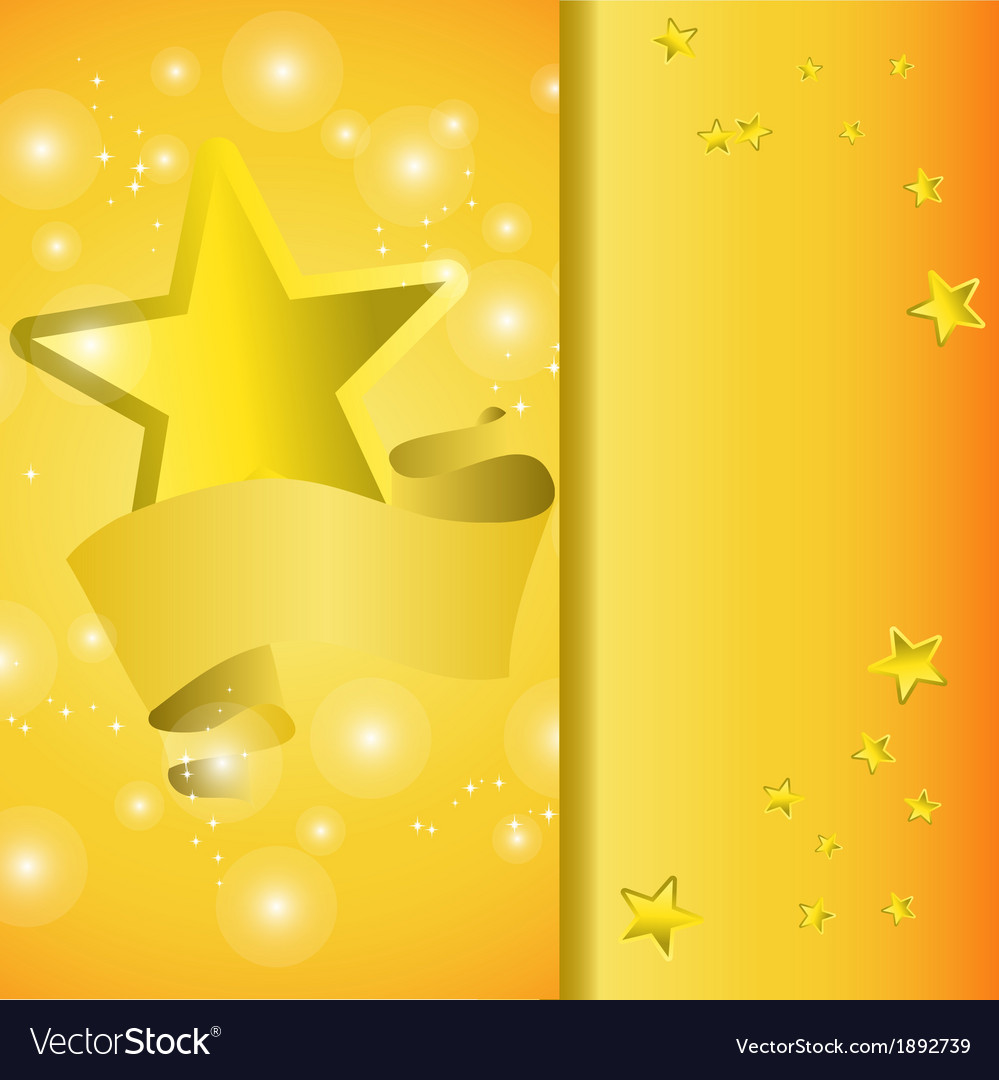 Postcard with a tape star and sequins vector | Price: 1 Credit (USD $1)