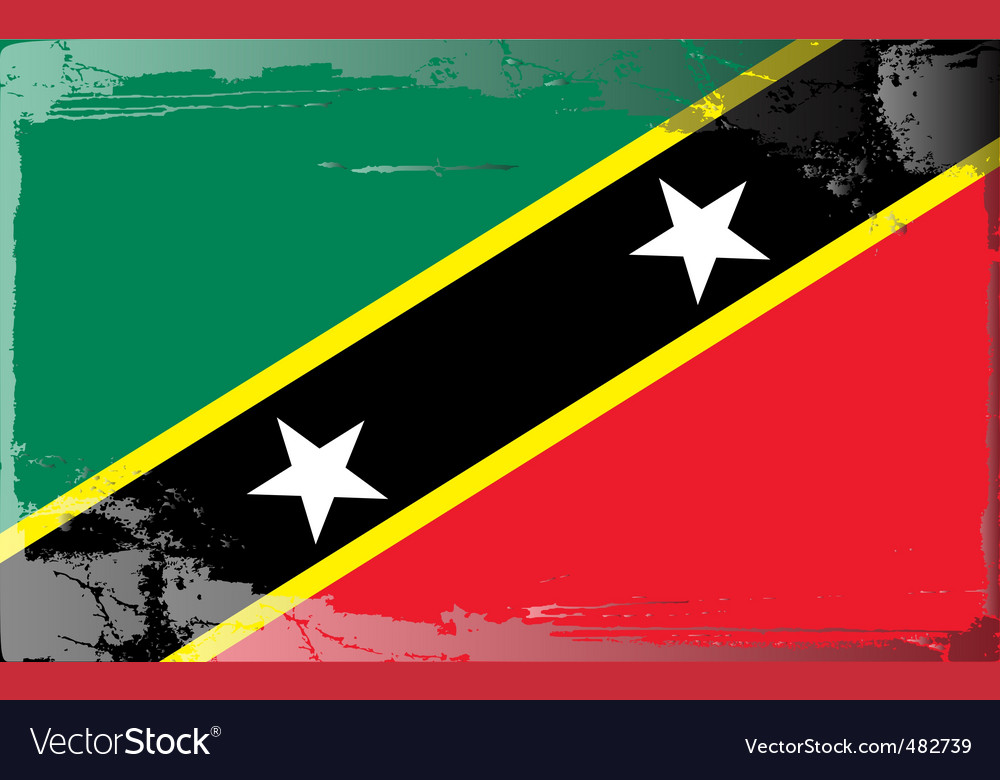 Saint kitts and nevis flag vector | Price: 1 Credit (USD $1)