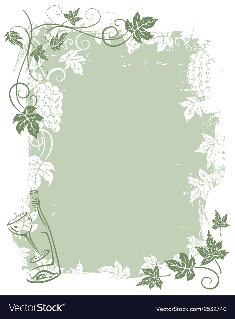 Background grape vines vector | Price: 1 Credit (USD $1)