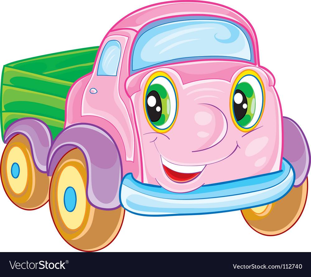 Cartoon truck vector | Price: 1 Credit (USD $1)