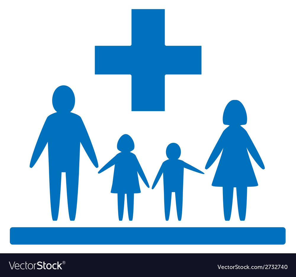 Family medical sign vector | Price: 1 Credit (USD $1)