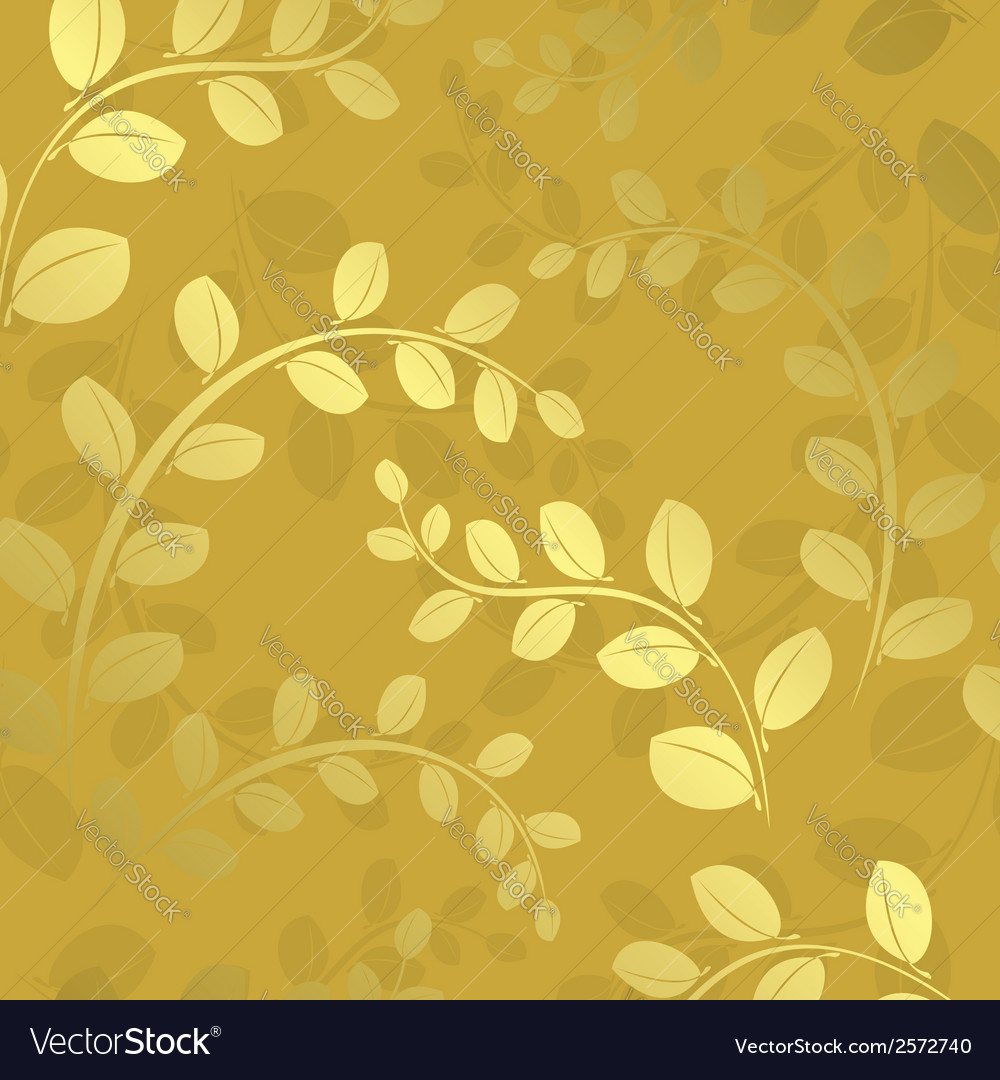 Floral pattern with gradient - gold vector | Price: 1 Credit (USD $1)