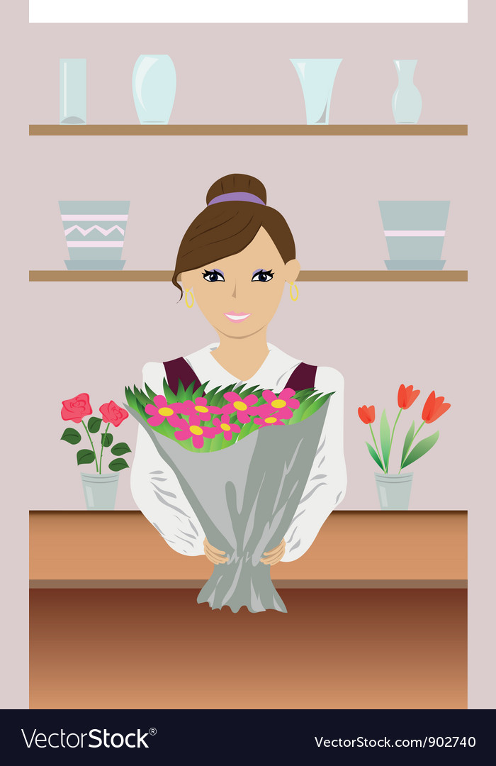 Florist vector | Price: 3 Credit (USD $3)