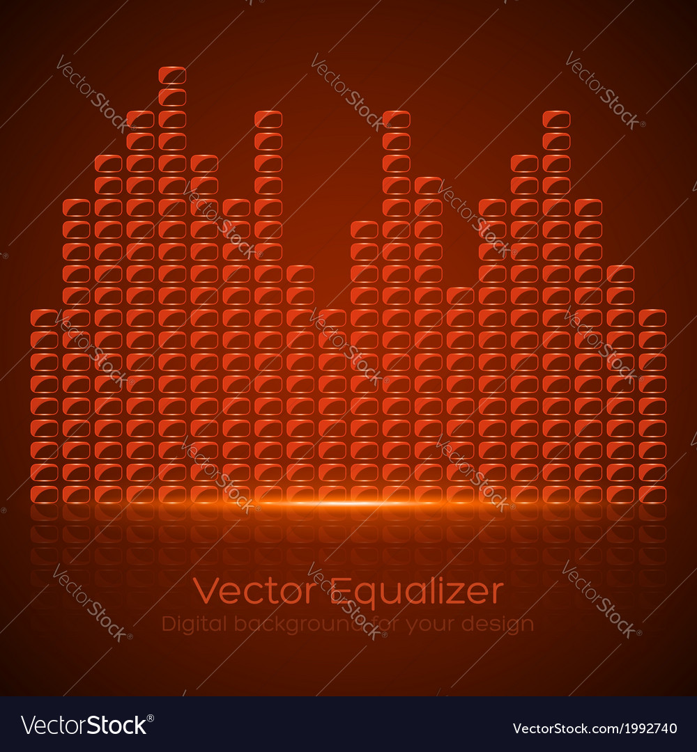 Glass equalizer vector | Price: 1 Credit (USD $1)