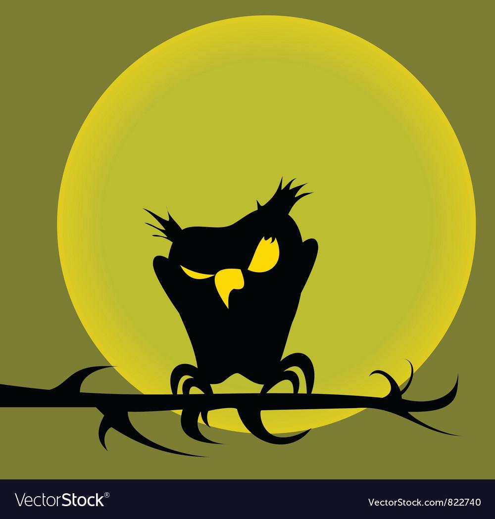 Halloween owl vector   Price: 1 Credit (USD $1)