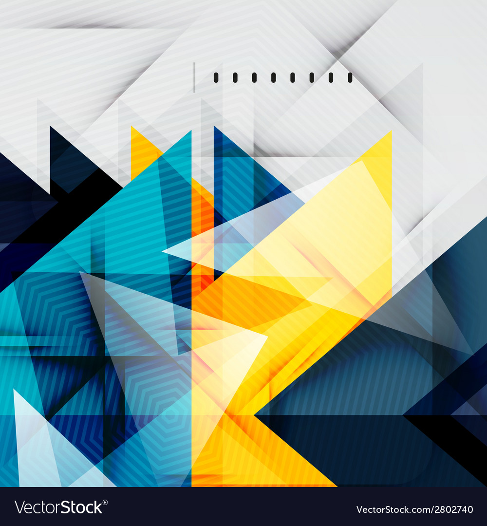 Modern glossy triangles business layout vector   Price: 1 Credit (USD $1)