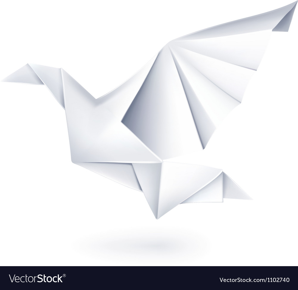 Paper dove origami vector | Price: 1 Credit (USD $1)