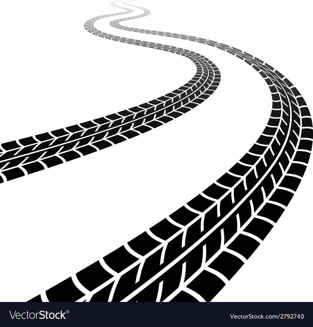 Winding trace of the tyres vector | Price: 1 Credit (USD $1)