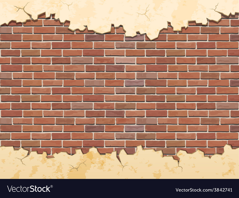 Brick wall and cracked concrete vector | Price: 1 Credit (USD $1)