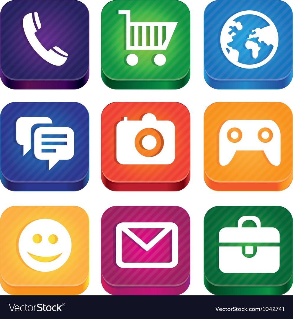 Bright app icons vector   Price: 1 Credit (USD $1)