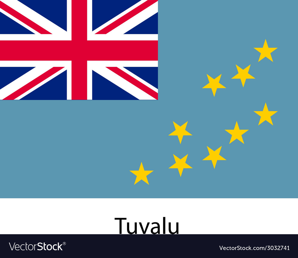 Flag of the country tuvalu vector | Price: 1 Credit (USD $1)