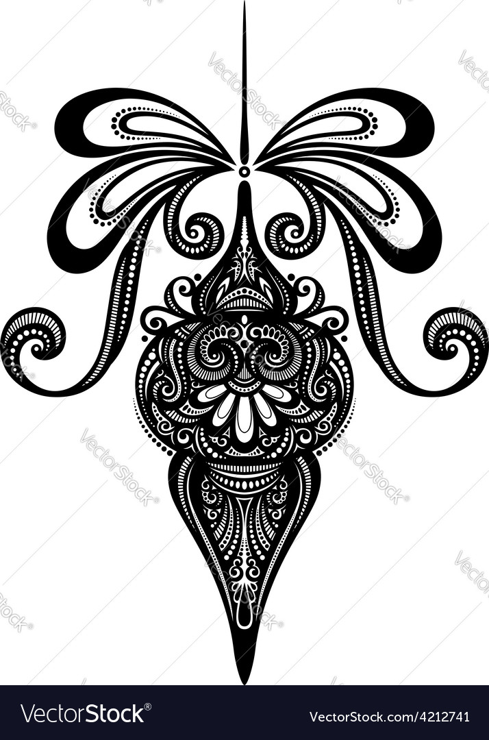 Floral decorative design vector | Price: 1 Credit (USD $1)