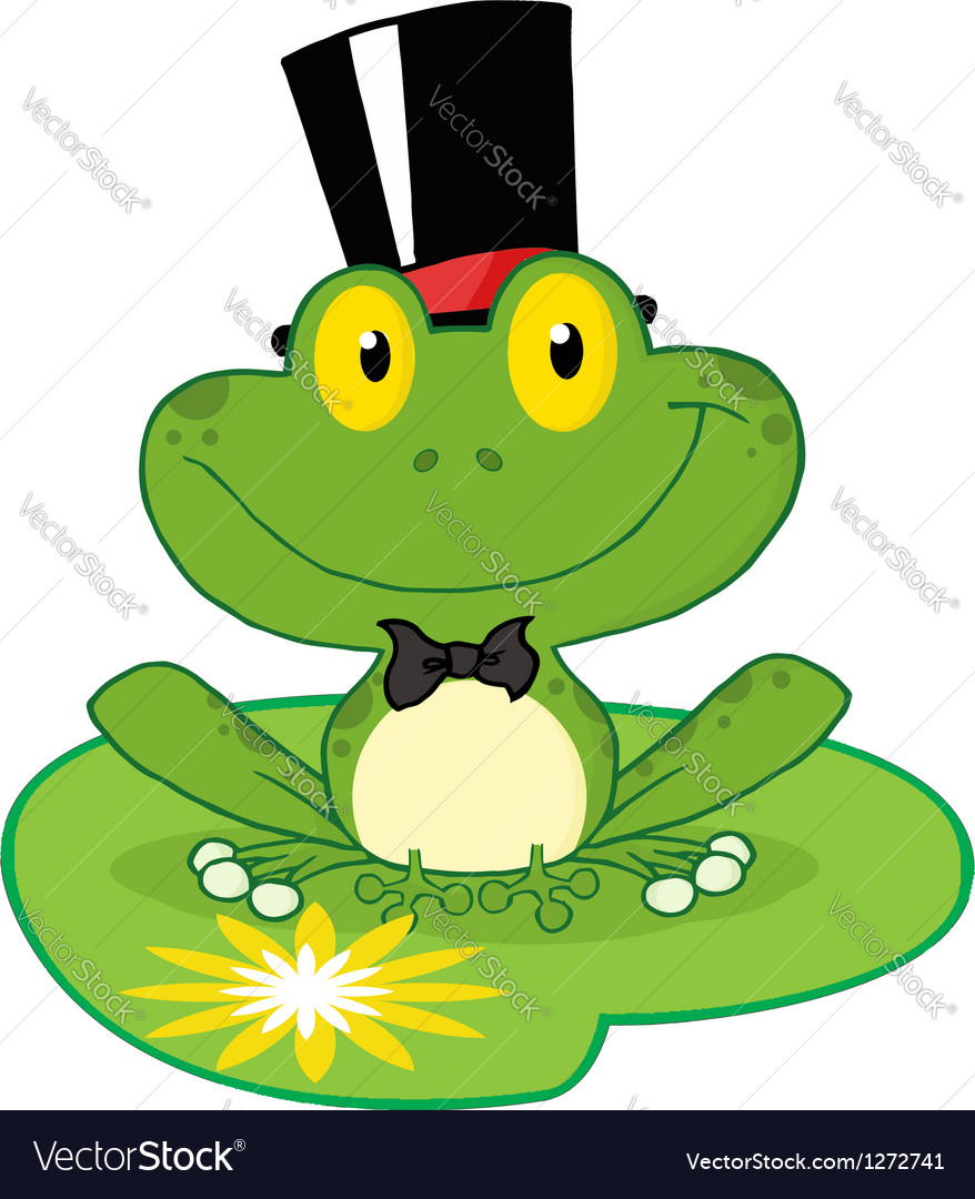 Frog groom on a lilypad vector | Price: 1 Credit (USD $1)