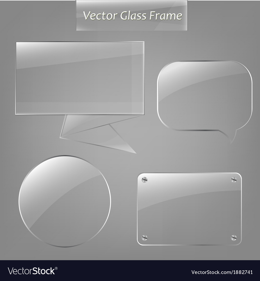 Glass frame set vector | Price: 1 Credit (USD $1)