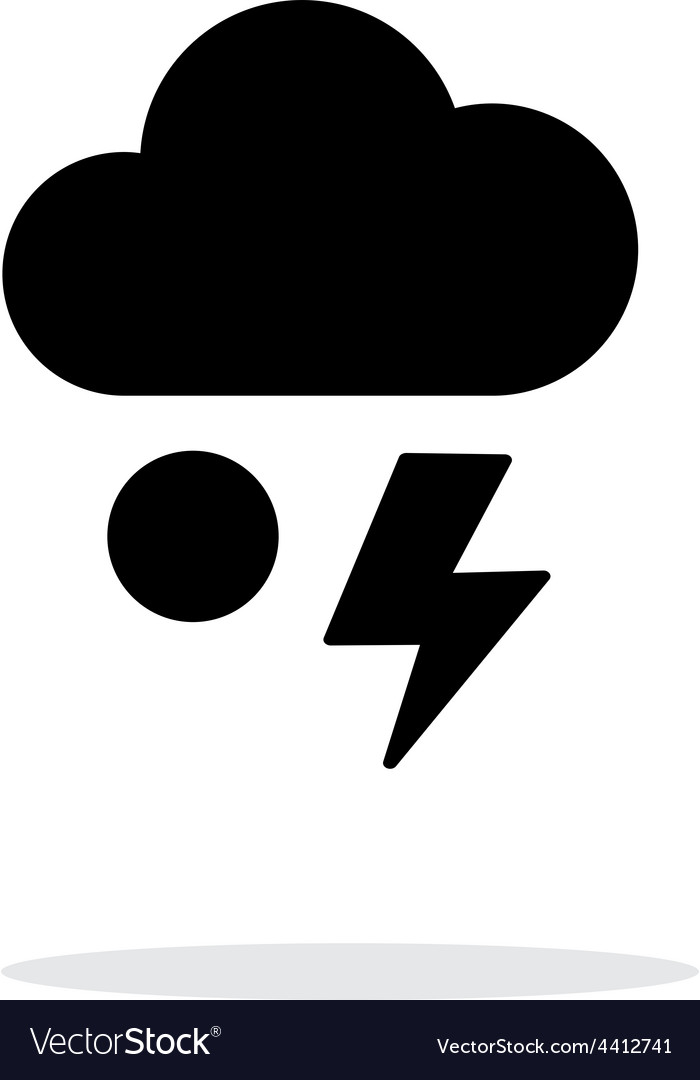 Hail with lightning weather simple icon on white vector | Price: 1 Credit (USD $1)