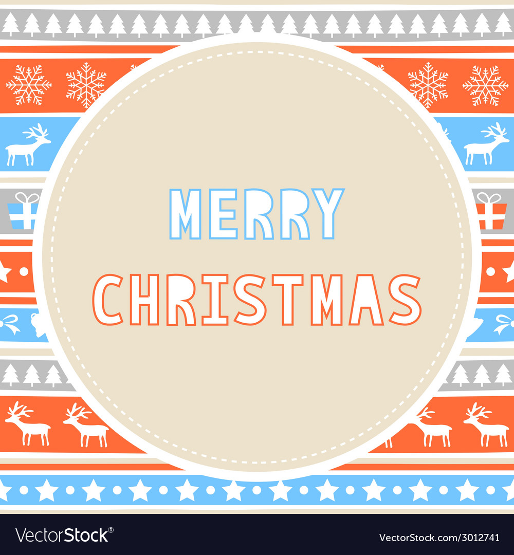 Merry christmas greeting card26 vector | Price: 1 Credit (USD $1)