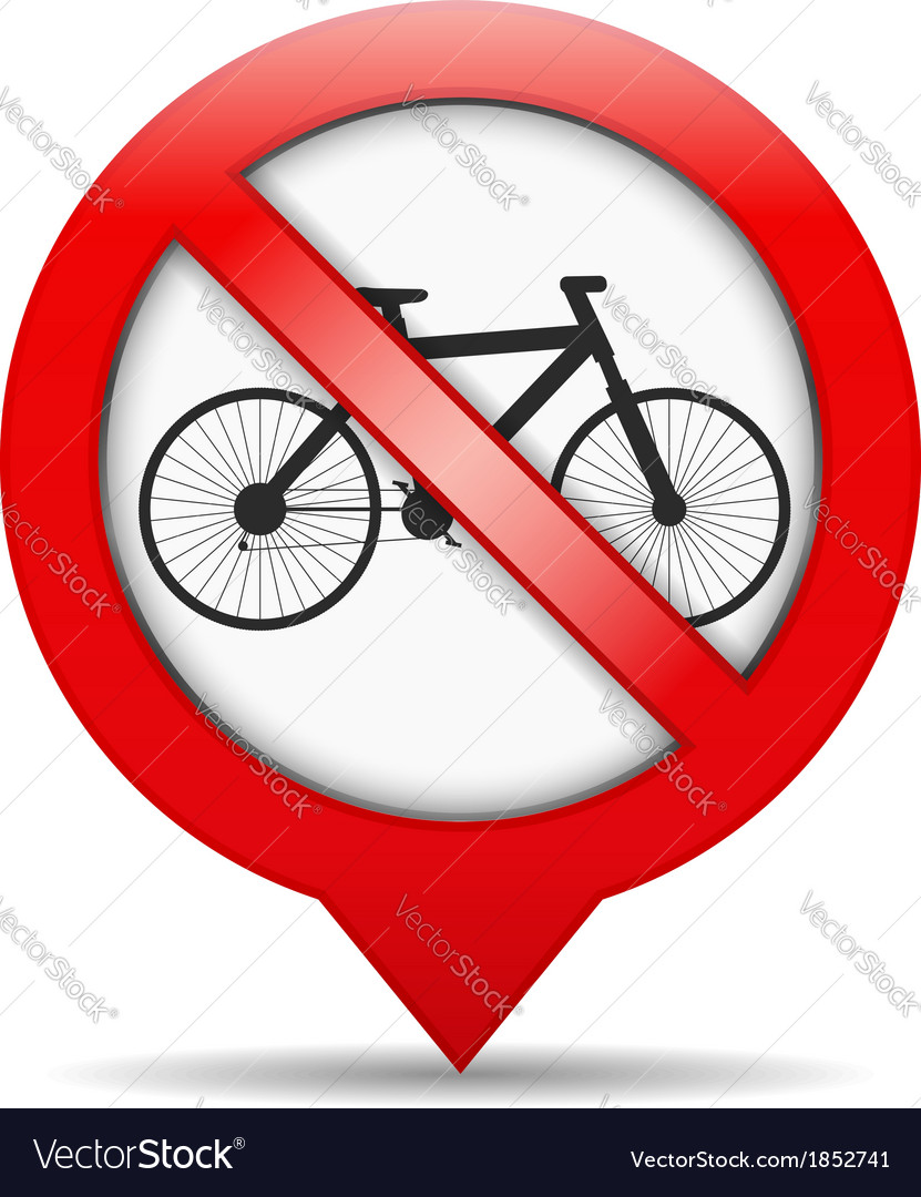 No bicycle sign vector | Price: 1 Credit (USD $1)