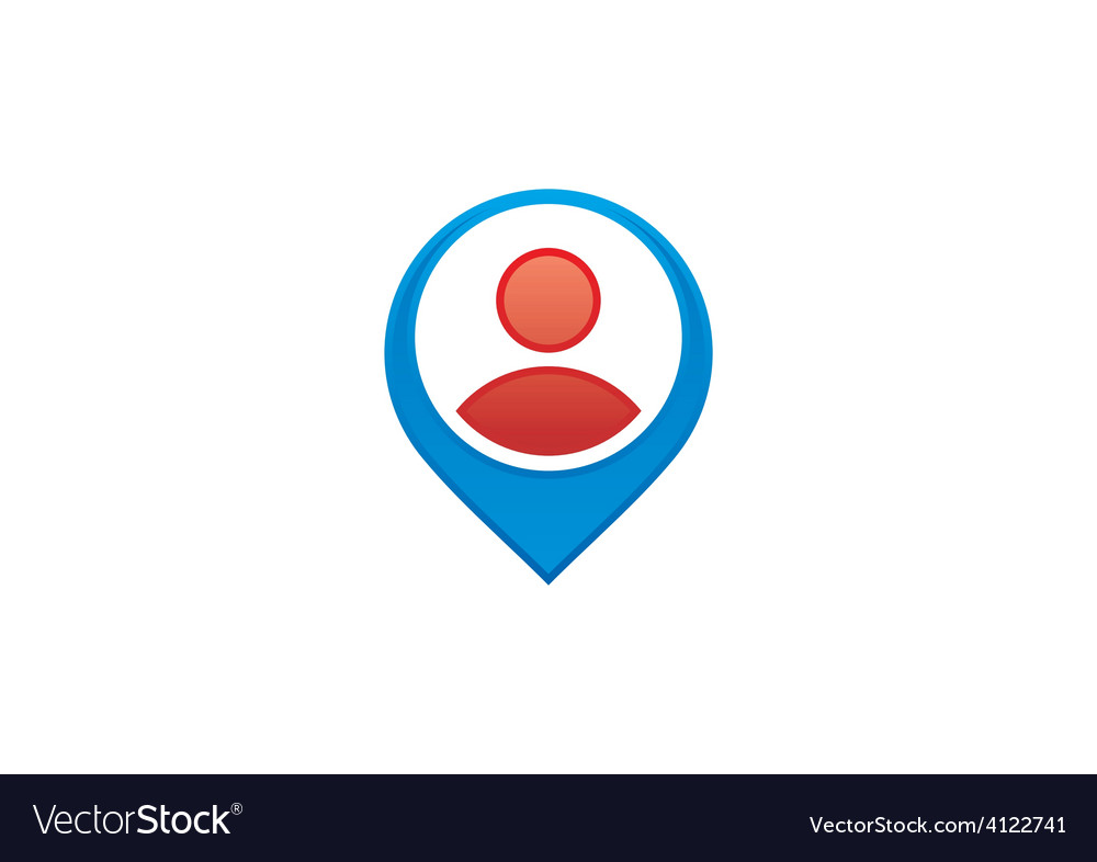 People location gps destination logo vector | Price: 1 Credit (USD $1)