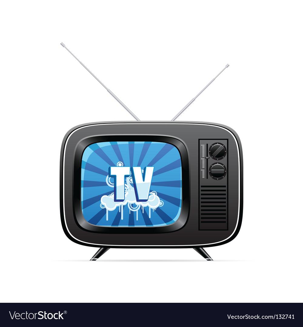 Retro television vector   Price: 1 Credit (USD $1)