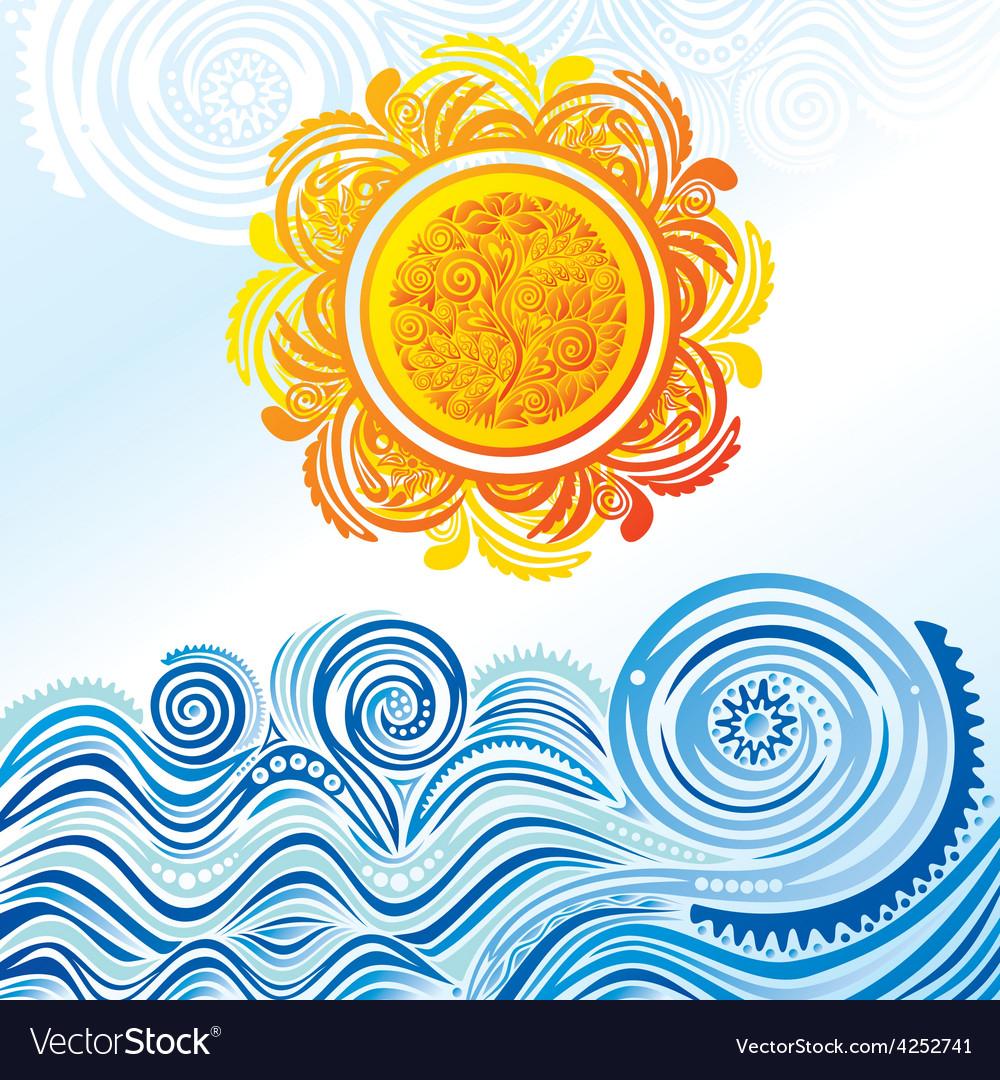 Sea and sun vector | Price: 1 Credit (USD $1)