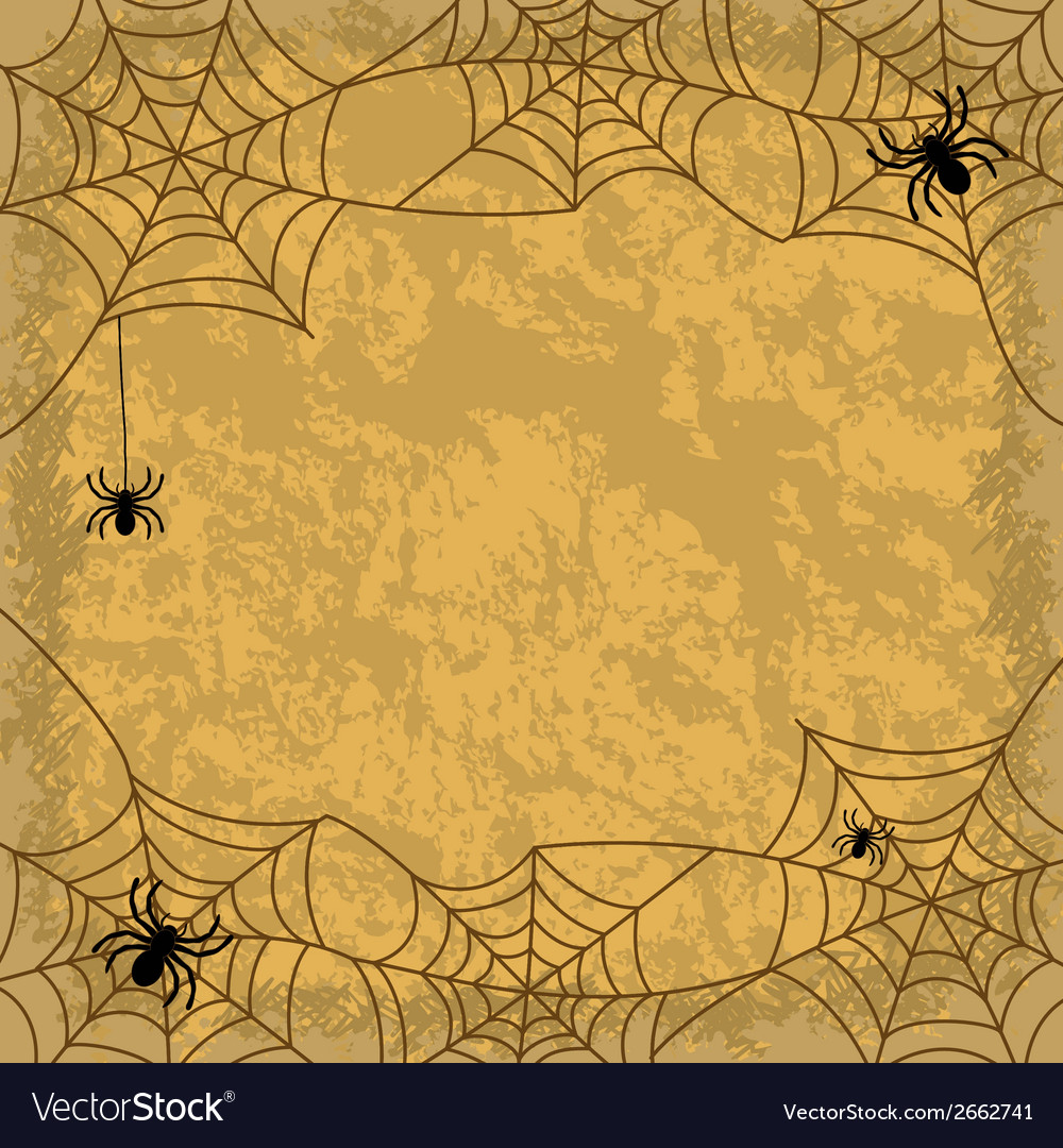Spiders and cobwebs on wall background vector | Price: 1 Credit (USD $1)