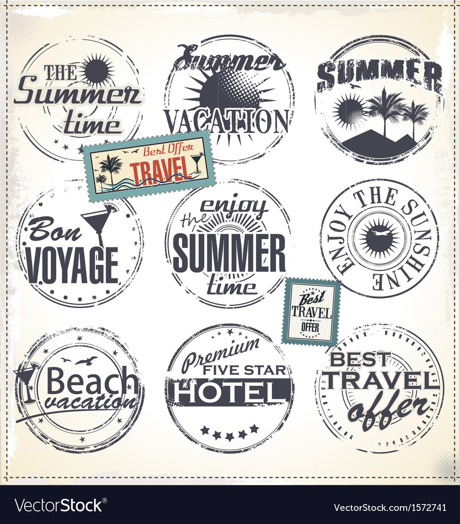 Summer vacation grunge rubber stamp vector | Price: 3 Credit (USD $3)