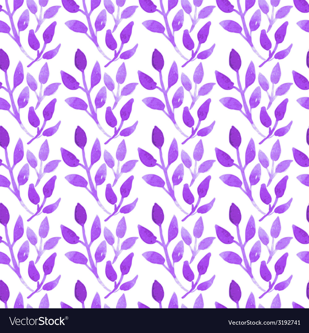 Watercolor seamless floral pattern vector | Price: 1 Credit (USD $1)