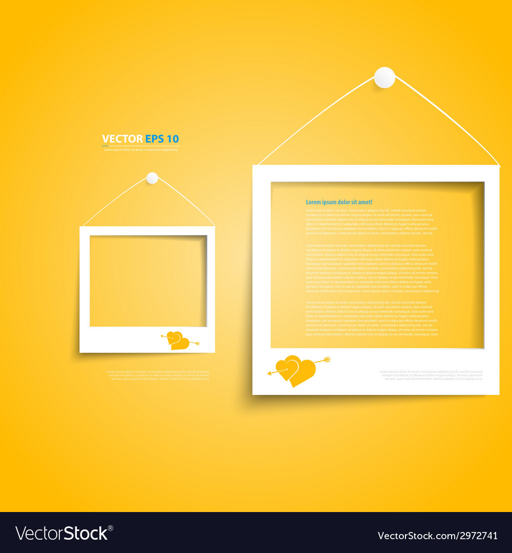 White frames on the wall vector   Price: 1 Credit (USD $1)