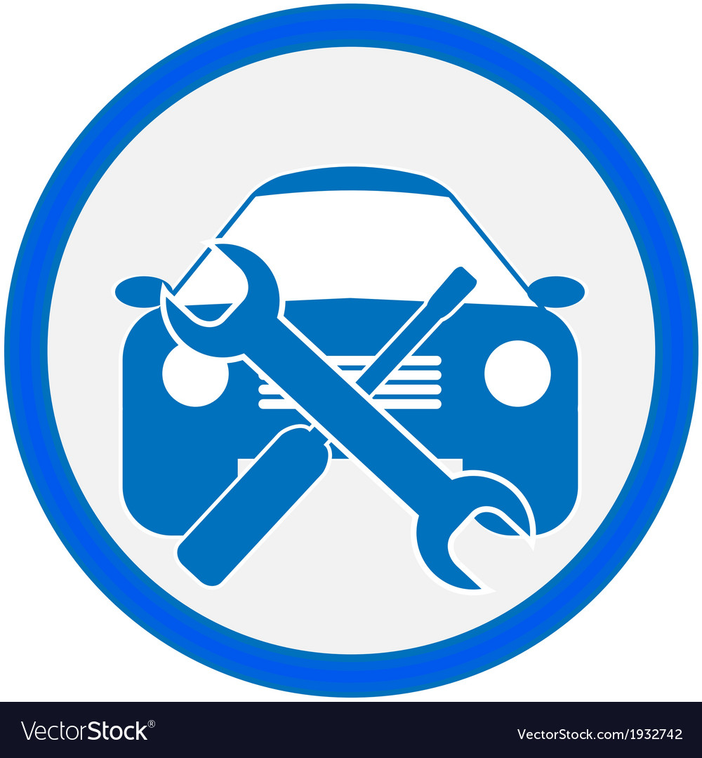 Auto repair shop sign vector | Price: 1 Credit (USD $1)
