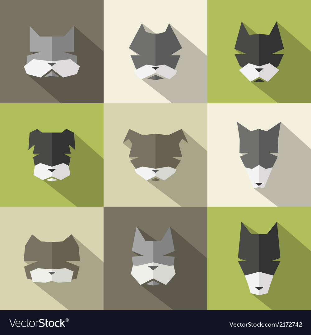 Dog breeds icons vector | Price: 1 Credit (USD $1)