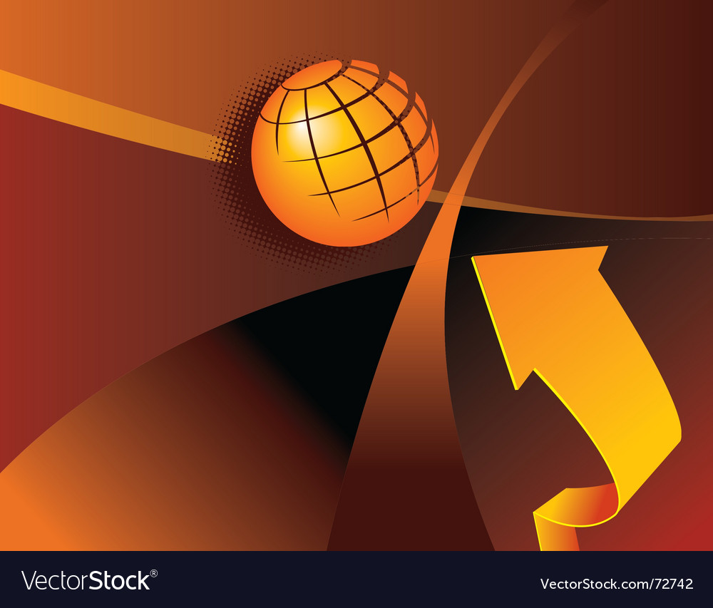 Globe arrow vector | Price: 1 Credit (USD $1)