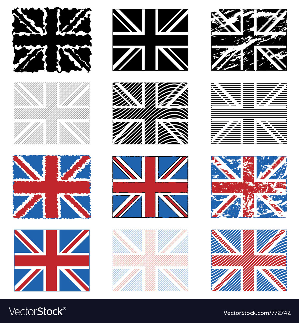 Great britain flags vector | Price: 1 Credit (USD $1)