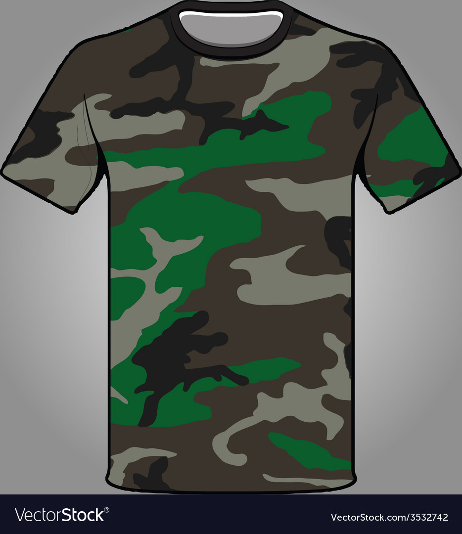 Jungle camo army tshirt vector | Price: 1 Credit (USD $1)